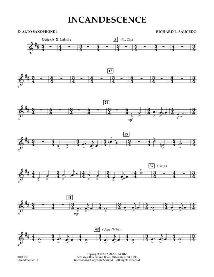 Incandescence - Eb Alto Saxophone 1
