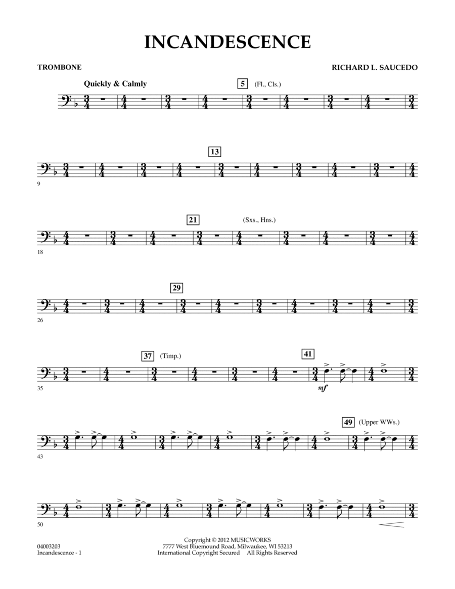 Incandescence - Trombone