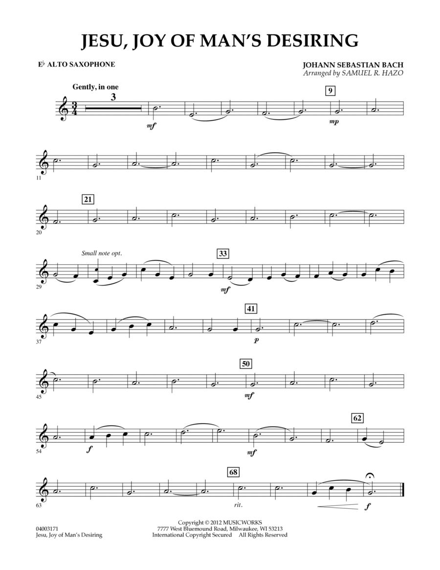 Jesu, Joy Of Man's Desiring - Eb Alto Saxophone