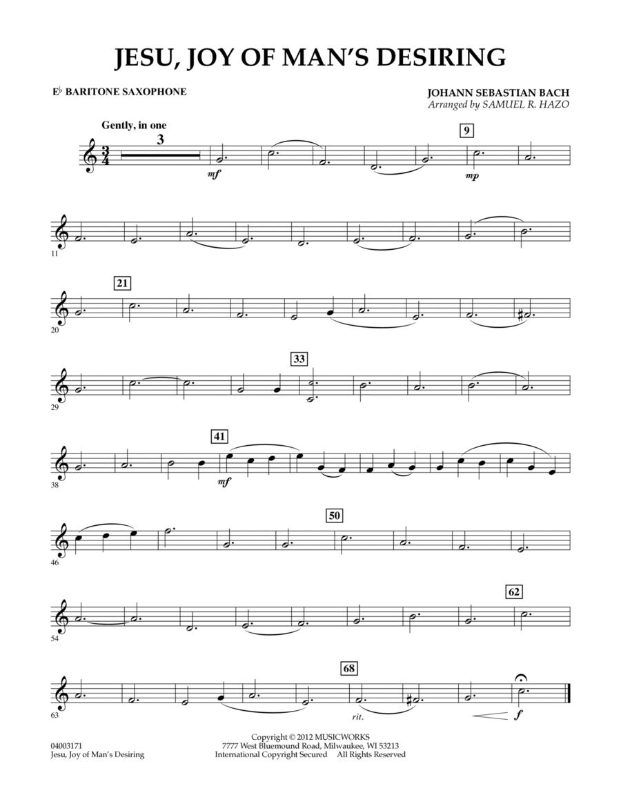 Jesu, Joy Of Man's Desiring - Eb Baritone Saxophone