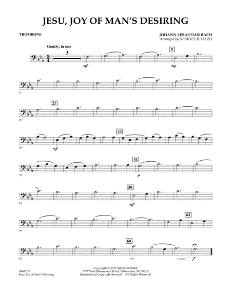 Jesu, Joy Of Man's Desiring - Trombone