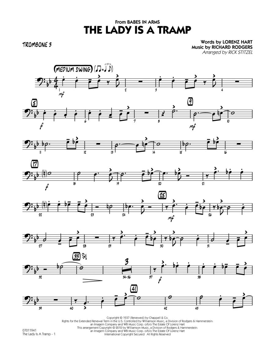 The Lady Is A Tramp - Trombone 3