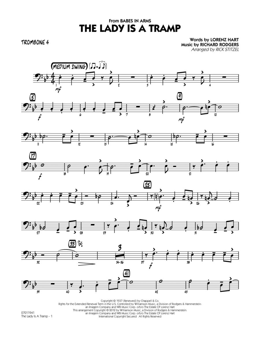 The Lady Is A Tramp - Trombone 4