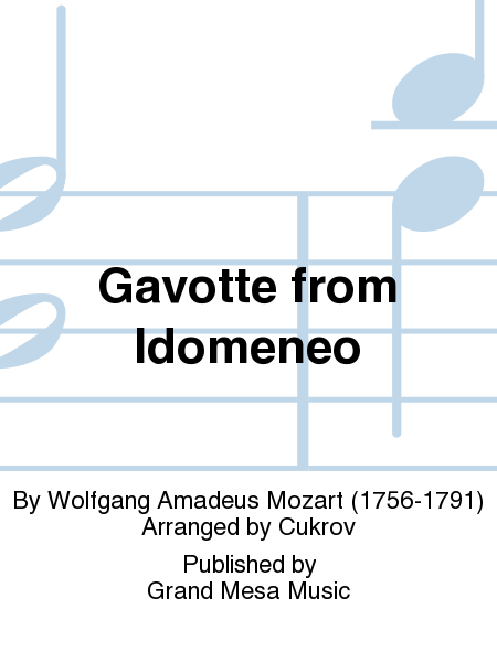 Gavotte from Idomeneo