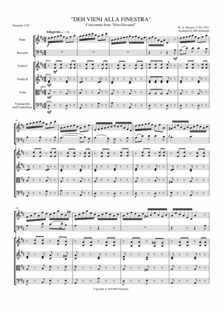Deh vieni alla finestra from don giovanni sheet music by wolfgang amadeus mozart sheet music - Mozart don giovanni deh vieni alla finestra ...