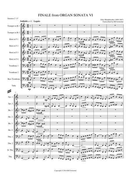 Finale From Organ Sonata VI