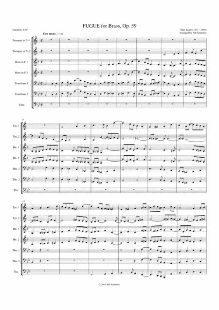 Fugue, Op 59