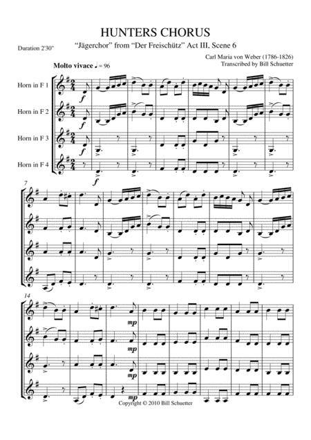 Hunters Chorus From