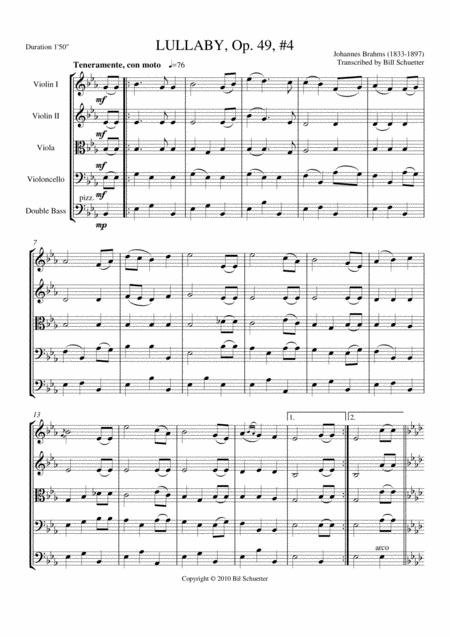 Lullaby Op 49, #4