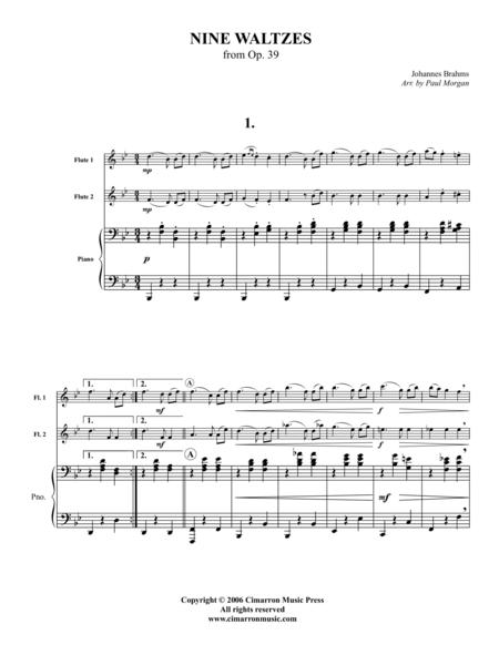 Nine Waltzes from Opus 39
