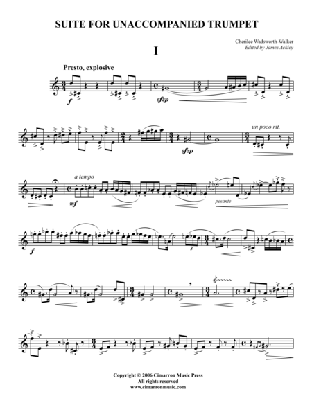 Suite for Unaccompanied Trumpet