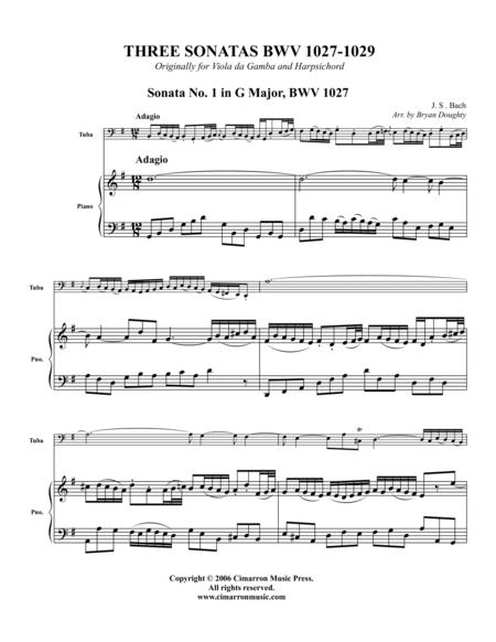Three Sonatas BWV 1027,1028, 1029