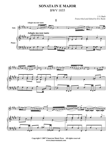 Sonata in E Major, BWV 1035