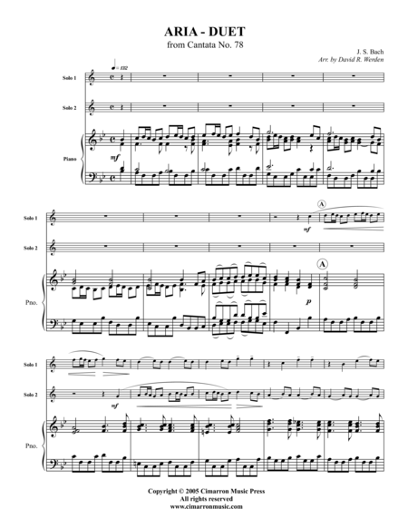 Aria-Duet from Cantata No. 78