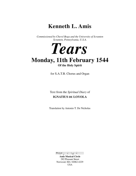 Tears - Monday, 11th February 1544