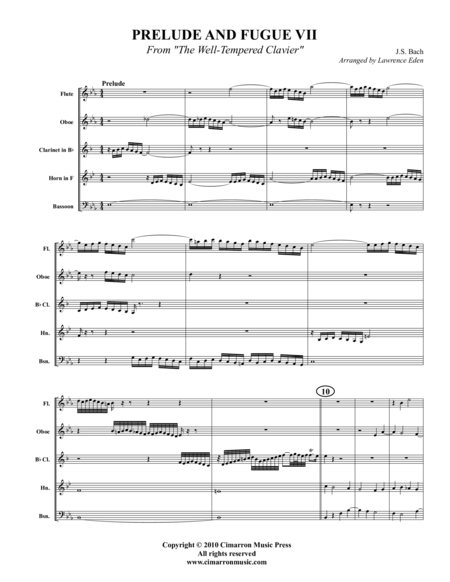 Prelude and Fugue VII