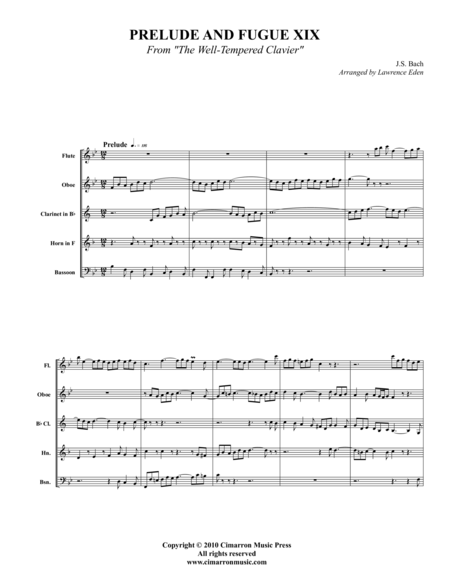 Prelude and Fugue XIX