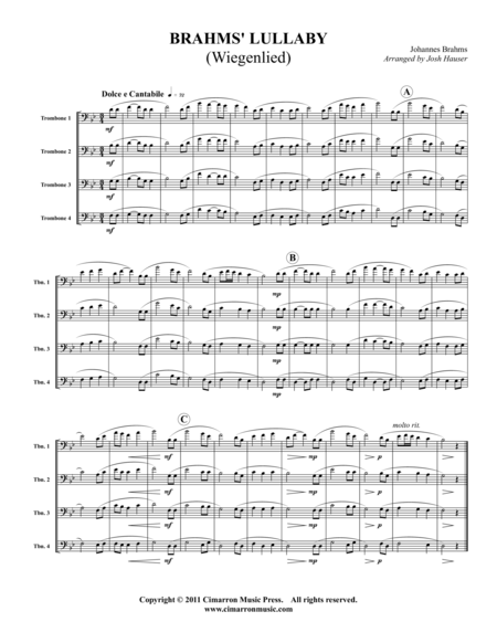 Brahms' Lullaby (Wiegenlied)
