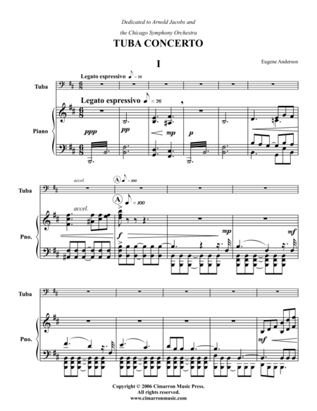 Tuba Concerto No. 1 in B Min
