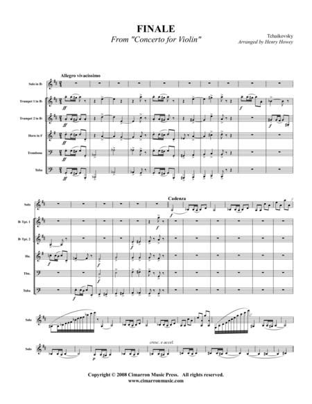 Finale from Violin Concerto
