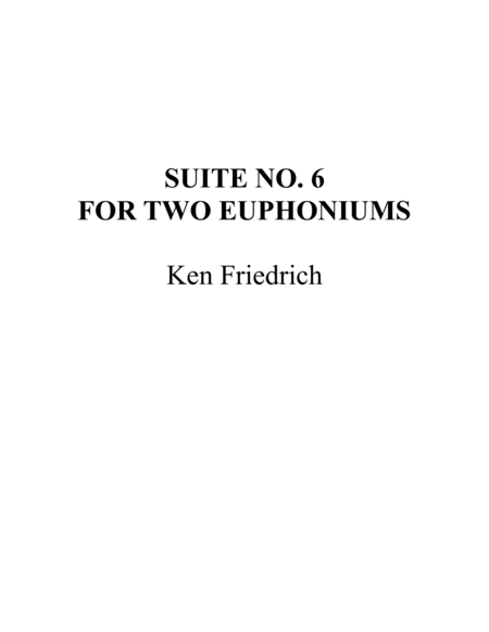 Suite No. 6 in Bb