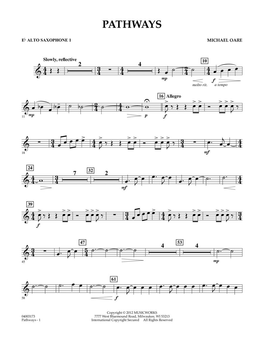 Pathways - Eb Alto Saxophone 1