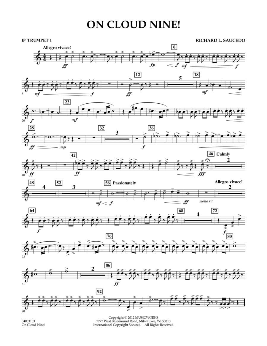 On Cloud Nine! - Bb Trumpet 1