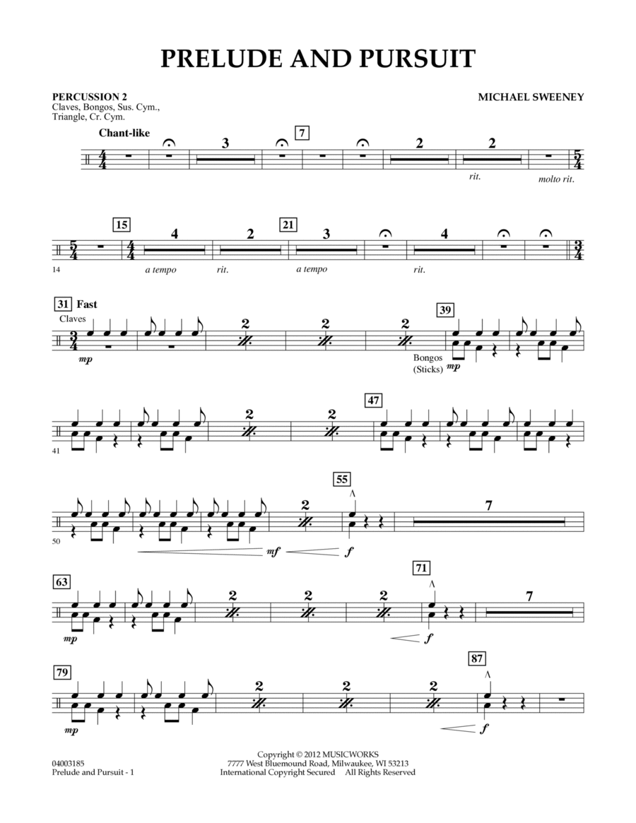 Prelude And Pursuit - Percussion 2