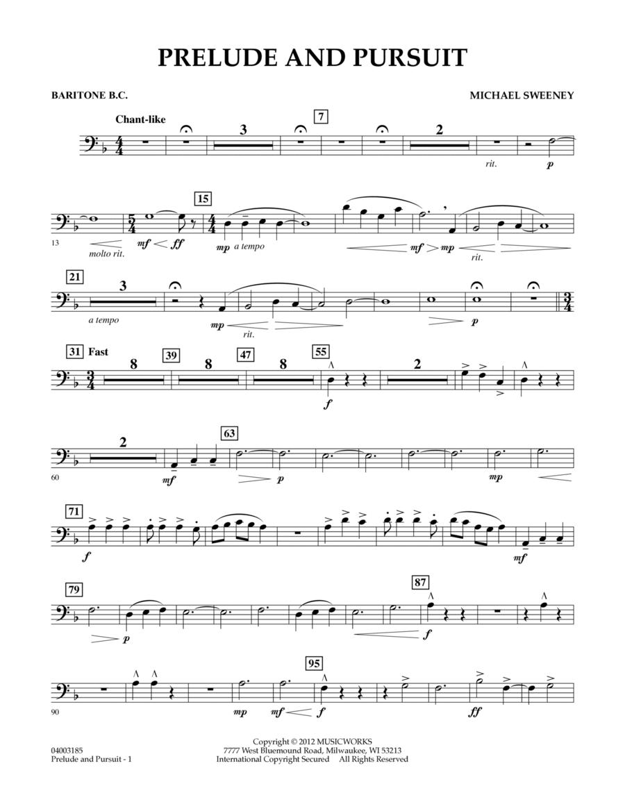 Prelude And Pursuit - Baritone B.C.