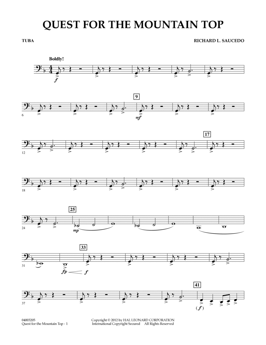 Quest For The Mountain Top - Tuba