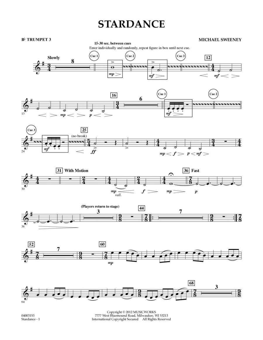 Stardance - Bb Trumpet 3