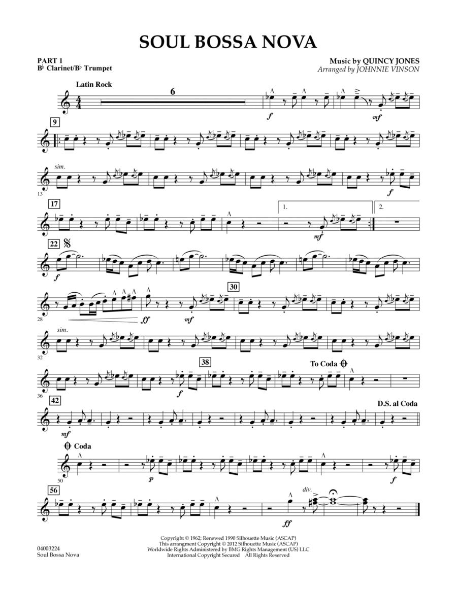 Soul Bossa Nova - Pt.1 - Bb Clarinet/Bb Trumpet