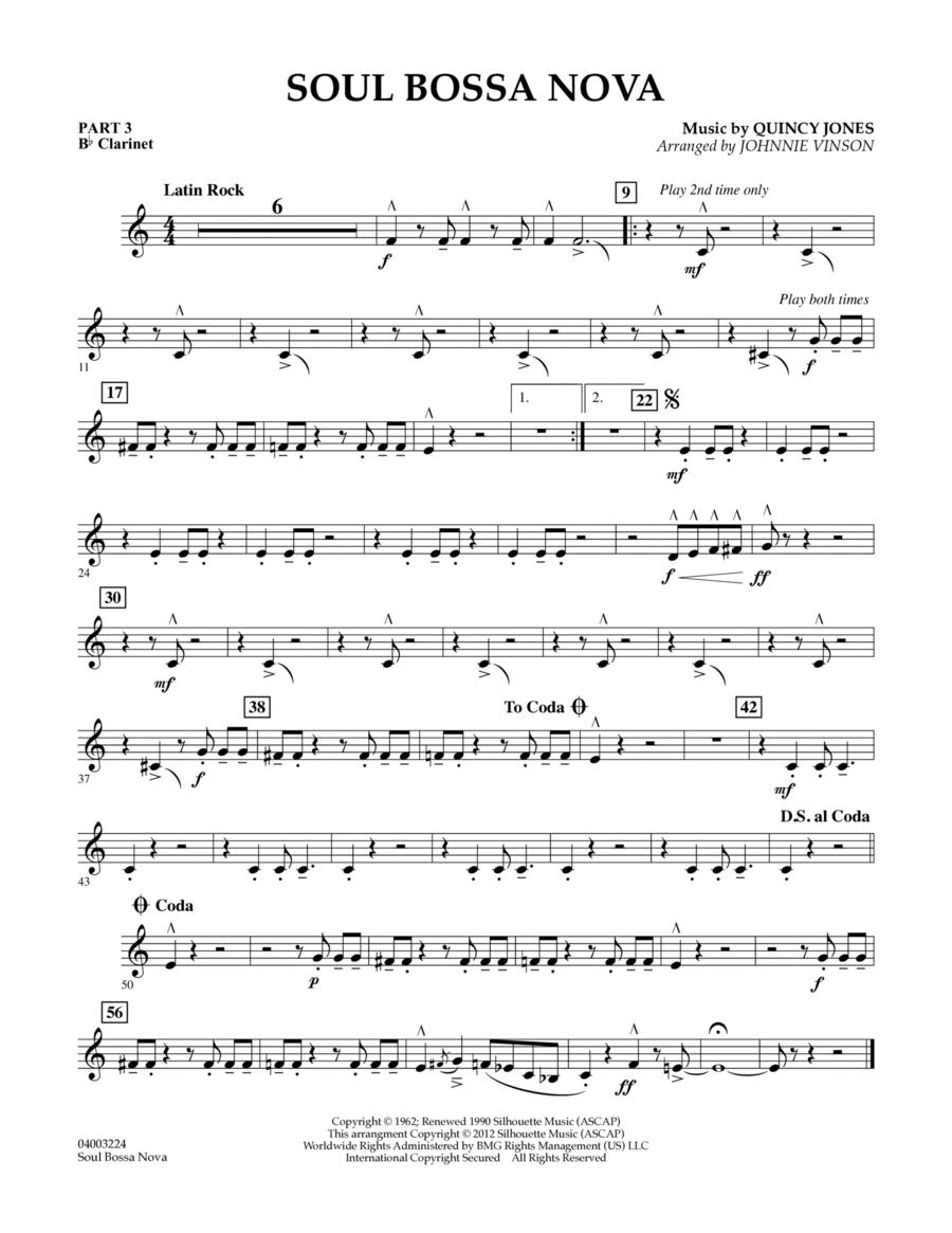 Soul Bossa Nova - Pt.3 - Bb Clarinet