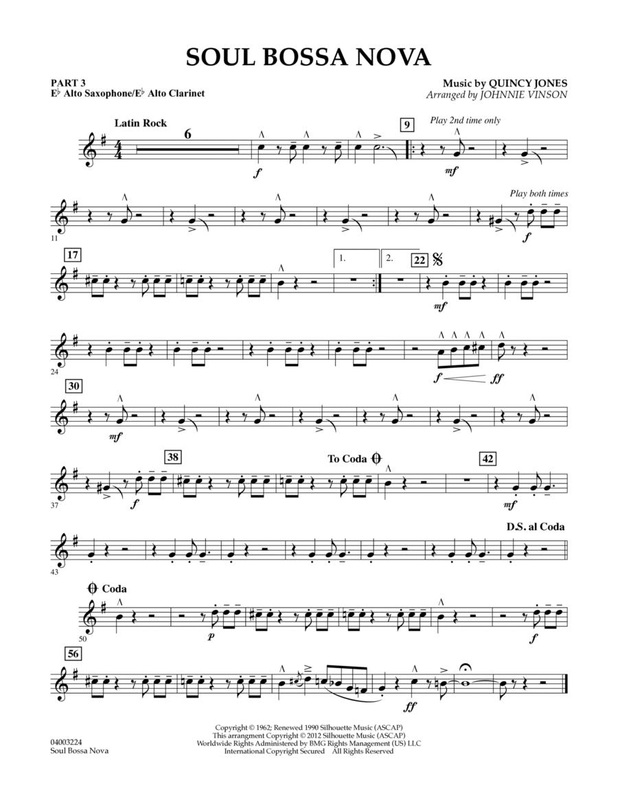 Soul Bossa Nova - Pt.3 - Eb Alto Sax/Alto Clar.