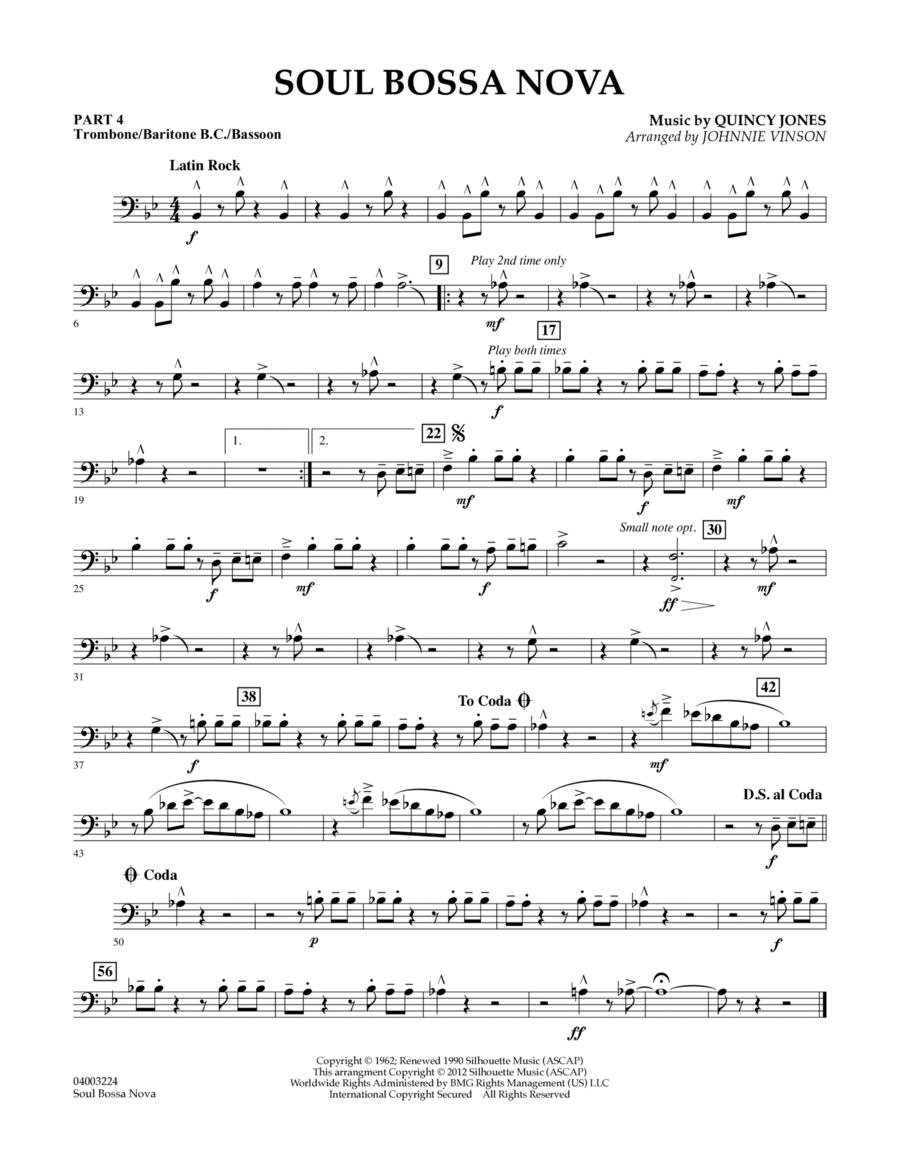 Soul Bossa Nova - Pt.4 - Trombone/Bar. B.C./Bsn.