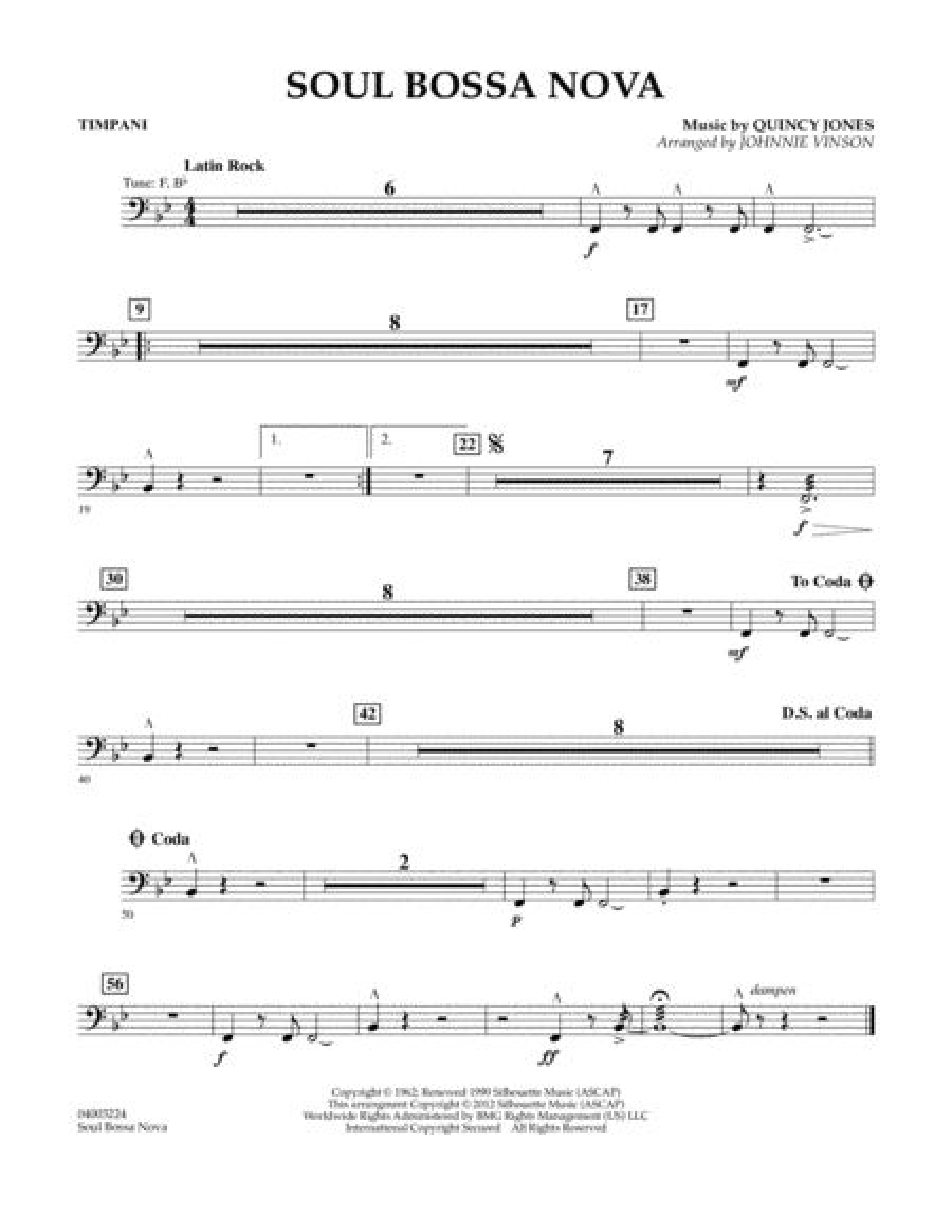 Soul Bossa Nova - Timpani