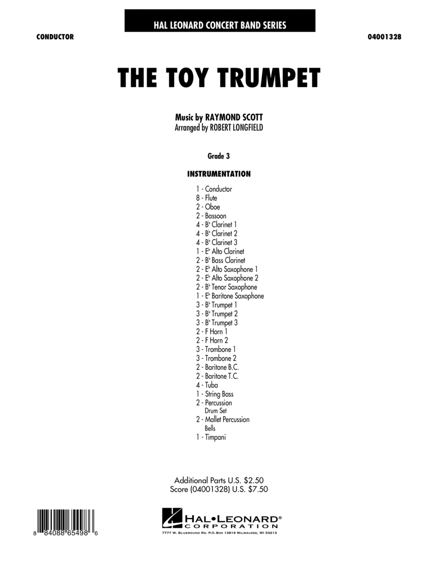 Toy Trumpet (Trumpet Solo & Section Feature) - Full Score