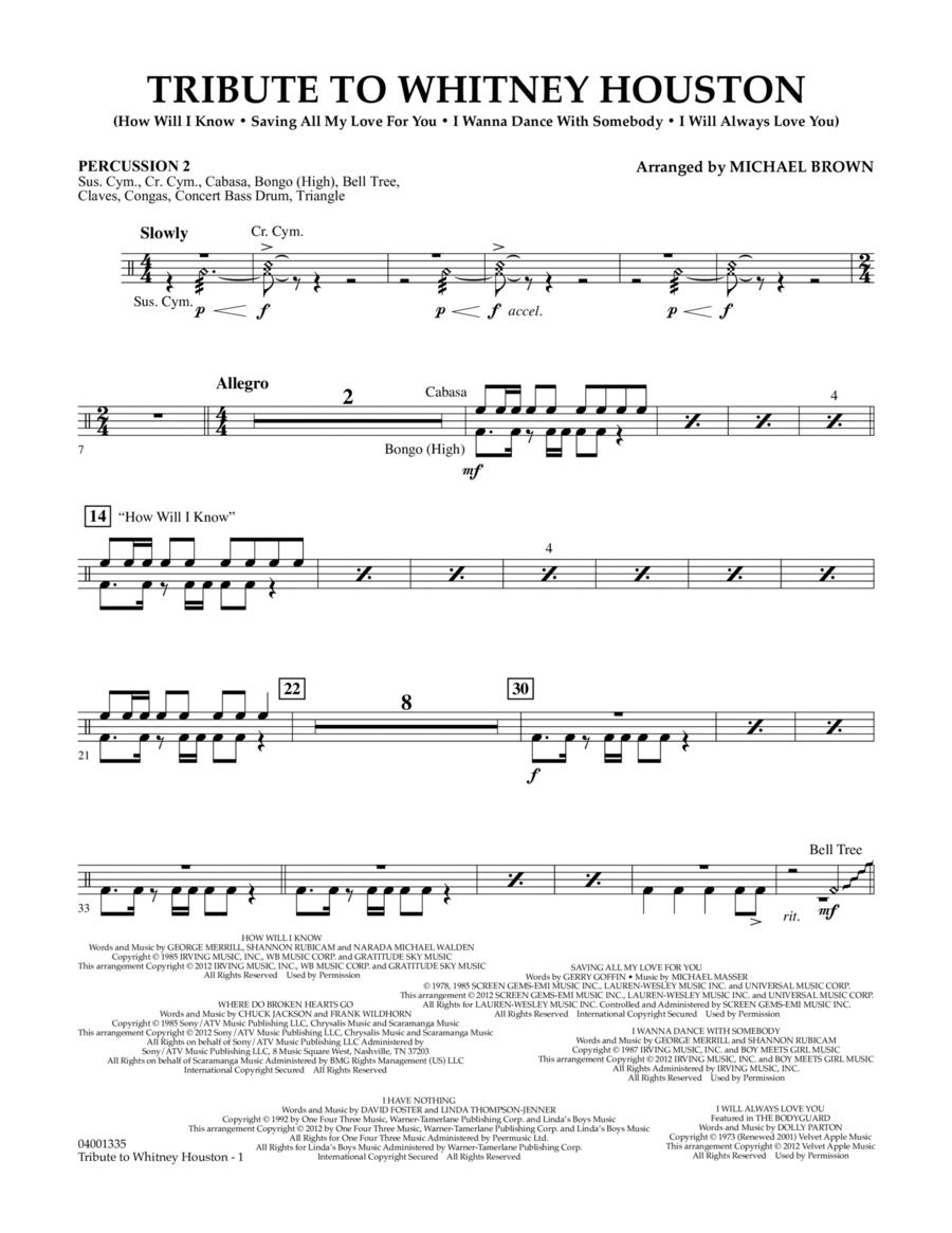 Tribute To Whitney Houston - Percussion 2