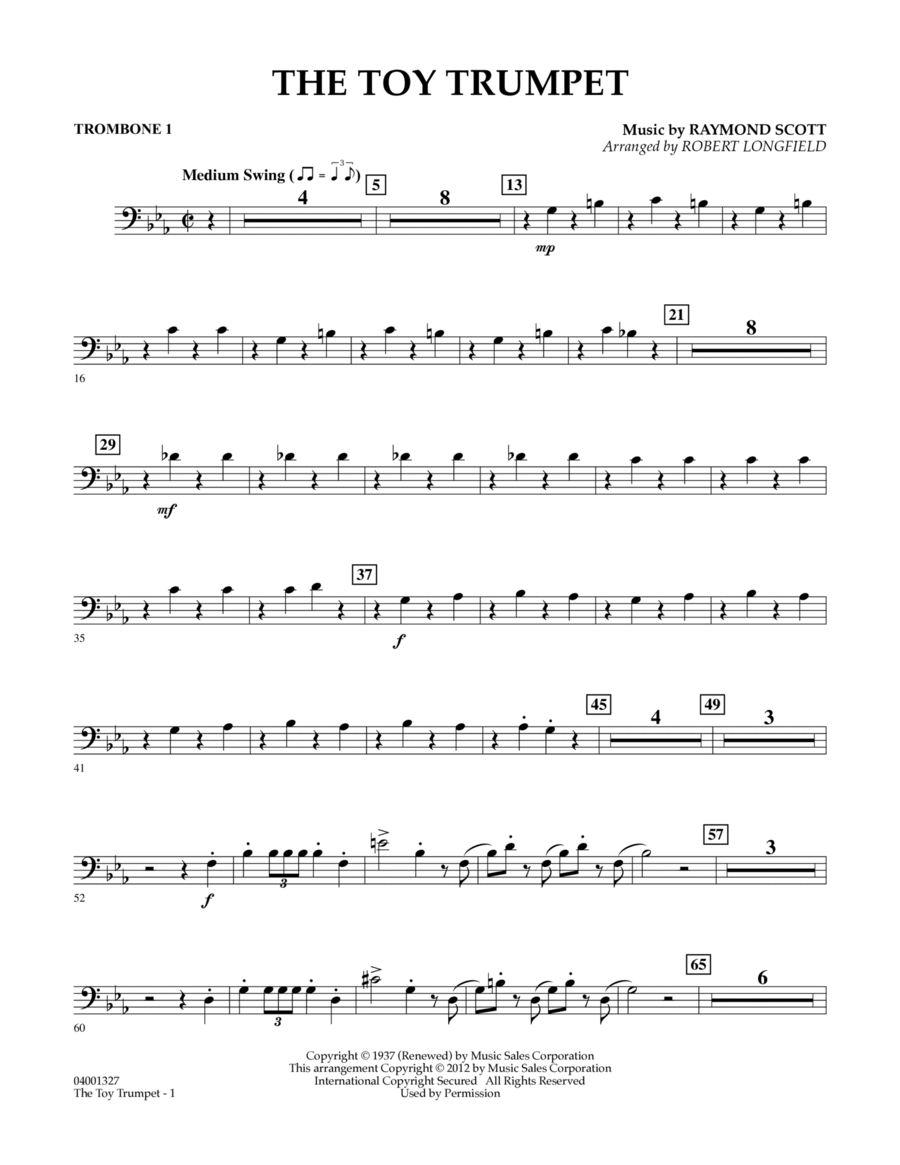Toy Trumpet (Trumpet Solo & Section Feature) - Trombone 1
