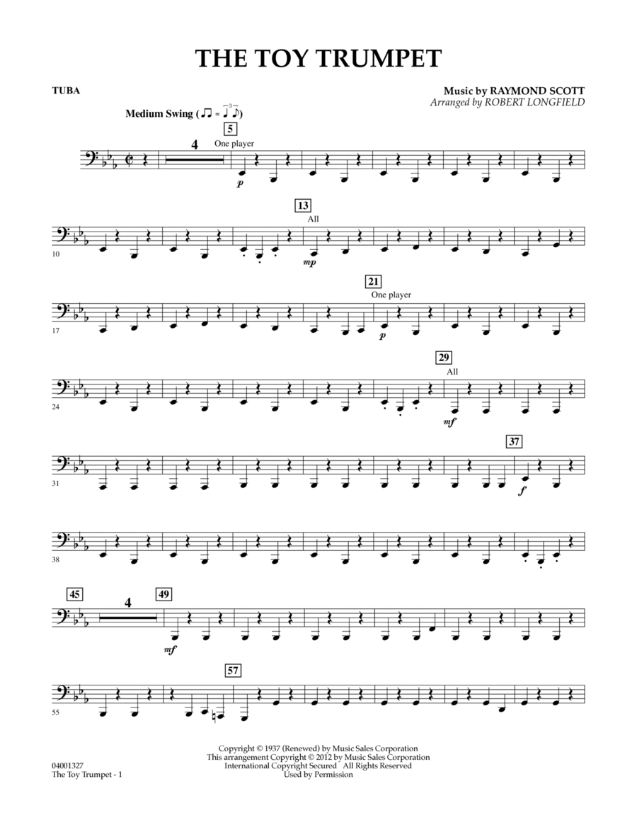 Toy Trumpet (Trumpet Solo & Section Feature) - Tuba