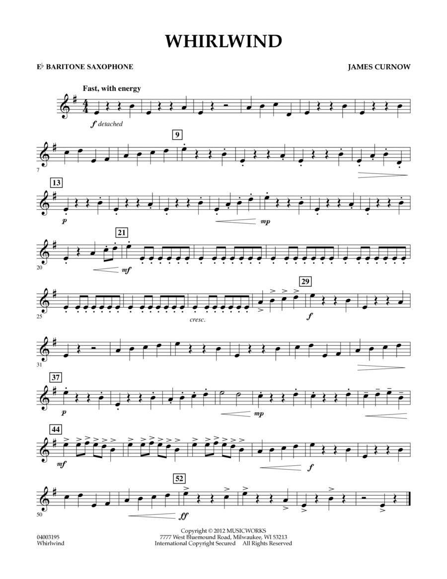 Whirlwind - Eb Baritone Saxophone