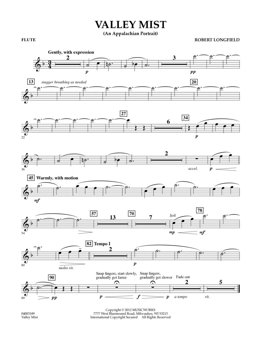 Valley Mist (An Appalachian Portrait) - Flute
