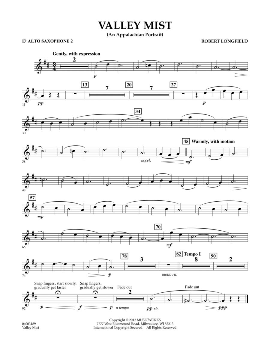 Valley Mist (An Appalachian Portrait) - Eb Alto Saxophone 2