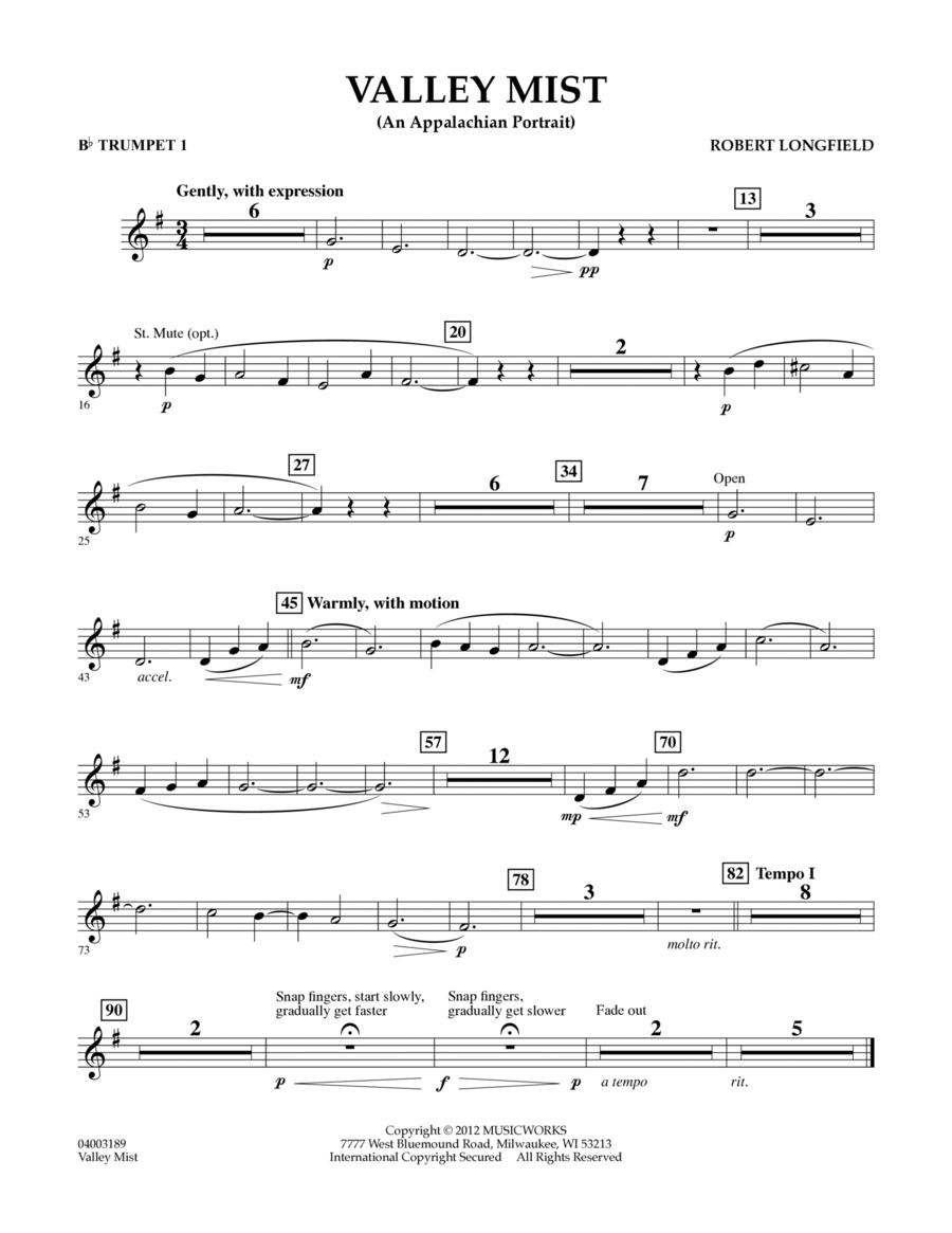 Valley Mist (An Appalachian Portrait) - Bb Trumpet 1