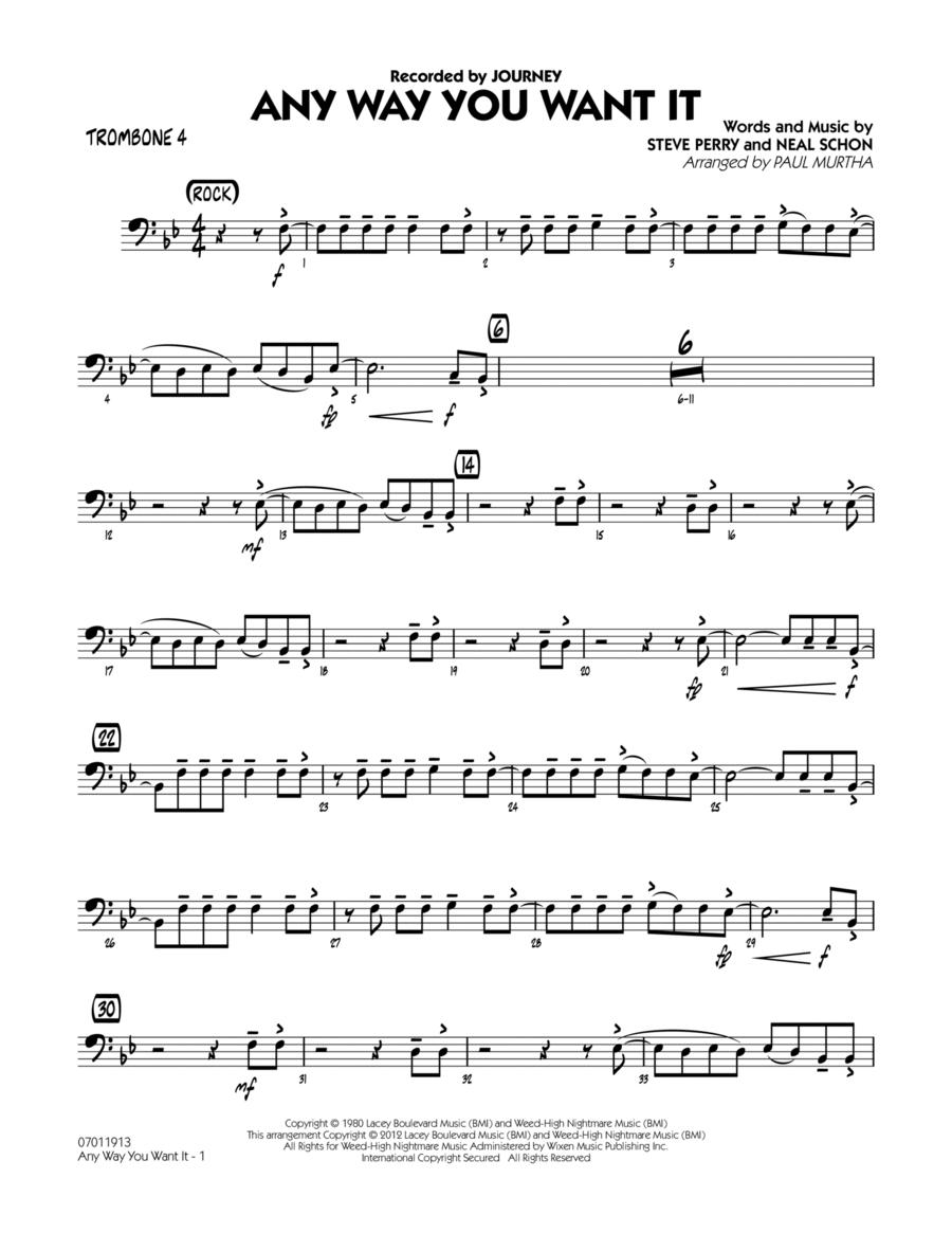 Any Way You Want It - Trombone 4