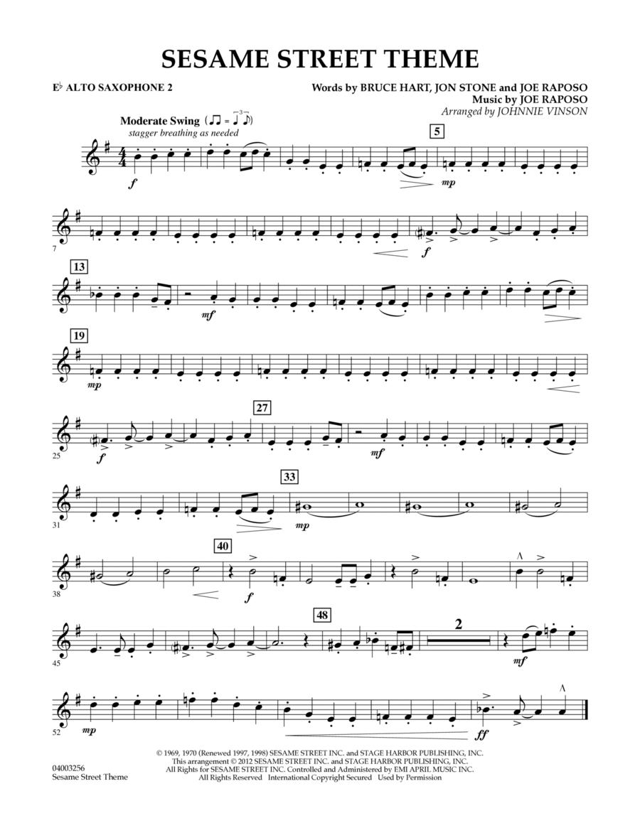 Sesame Street Theme - Eb Alto Saxophone 2