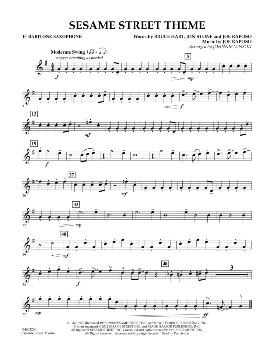Sesame Street Theme - Eb Baritone Saxophone