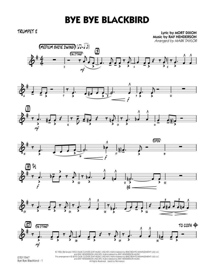 Bye Bye Blackbird - Trumpet 2