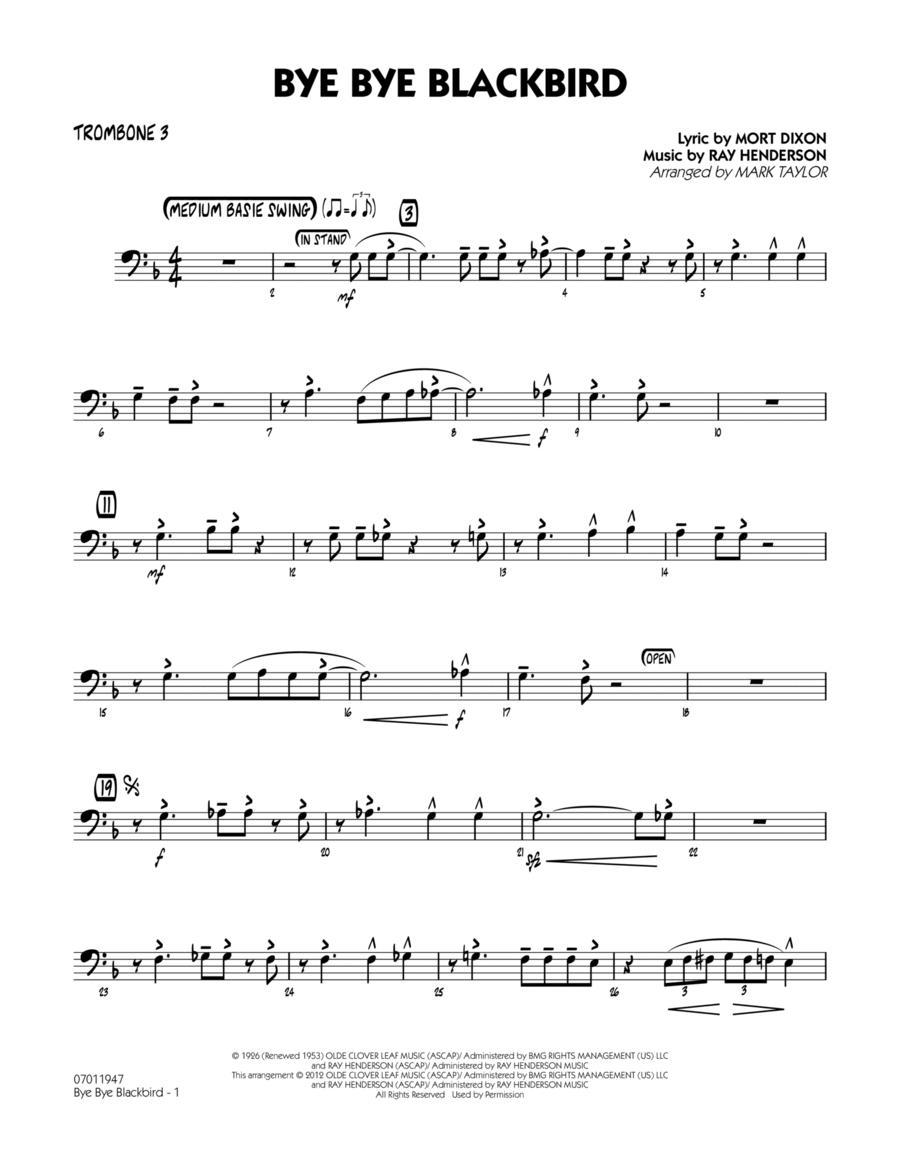 Bye Bye Blackbird - Trombone 3