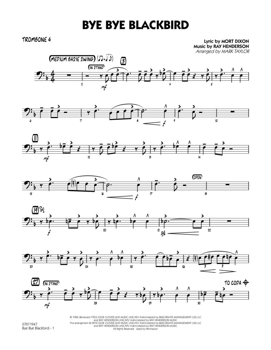 Bye Bye Blackbird - Trombone 4